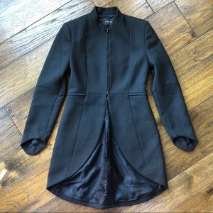 NWOT ZARA BASIC Black LS Blazer coat with tails